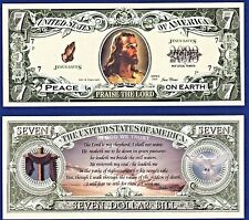 1-CHRISTIAN PRAISE THE LORD JESUS CHRIST DOLLAR  W/clear protector sleeve K2