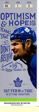 Darcy Tucker Design Souvenir Ticket from Toronto Maple Leafs 100th Year