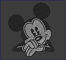 Disney's MICKEY MOUSE Inspired Fan Art Rhinestone Iron On Transfer Hot Fix Bling