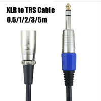 """Male Balanced Cord 1/4"""" 6.35mm XLR to TRS Microphone Cable Stereo Jack"""