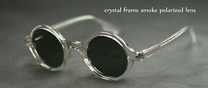 Retro Vintage Johnny Depp sunglasses round crystal frame gray polarized lenses