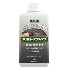 Renovo Soft Top Reviver Black Re-Colours Convertible Cabriolet Canvas Hood 500ml