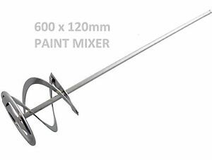 BRAND NEW DRILL PAINT POT PLASTER MIXER STIRRER MIXING MIX PADDLE DIY WHISK TOOL