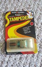 Vintage Traffic Stoppers Stampeders Die Cast Silver Car TS 9000 New in Package