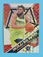 2019-20 Panini Mosaic Karl-Anthony Towns Will-to-Win Silver Prizm #2 Minnesota