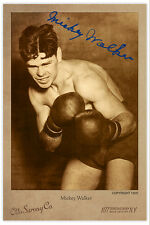 MICKEY WALKER 1925 Boxing Champion Legend Cabinet Card Vintage Photo CDV A++