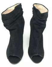 Chinese Laundry by Kristin Cavallari Size 6.5 Black Suede Peep Toe Booties