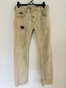 Dolce & Gabbana Classic 41 paint splattered jeans Excellent Used Condition S 34