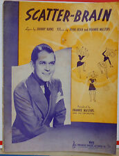 Scatter-Brain -  1939 vintage sheet music - Frankie Masters photo cover