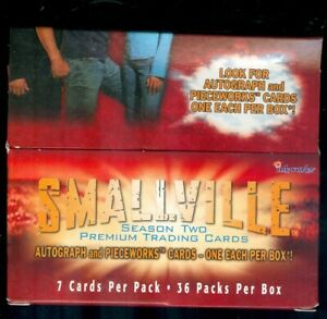 Smallville Season 2 OPENED Box of 36 Sealed Packs [No Autographs or Costumes]