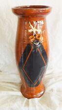 JARRÓN de barro, decorado. 60 cms. de alto. Modelo Papalotl