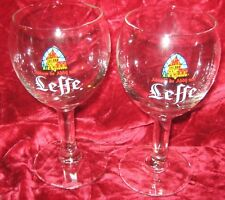 1 - Lot of 2 Leffe Brewery Beer glass 25cl (.25ltr) (2017-148)