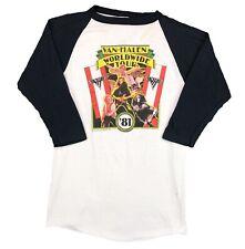 Vintage Van Halen Concert T Shirt 1981 World Tour Raglan Mens Large 80s Band Tee
