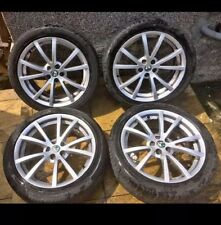 "5x98 Alfa Romeo 147 156 Gt Ti 17"" Alloy Wheels Alloys With Tyres Genuine"