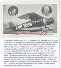 Early WOMAN AVIATOR BOBBI TROUT, Edna May Cooper 1931 Endurance LADY ROLPH Plane