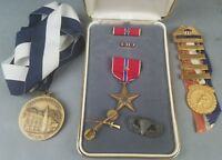 Named WWII 503rd Airborne Group Bronze Star Angus Coote Jump Wings US Senator