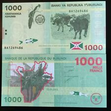 BURUNDI 1,000 1000 FRANCS 2015 P NEW HYBRID FISH OX BIRD UNC