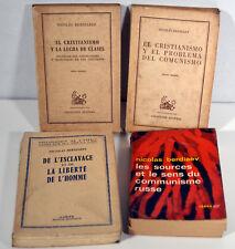 Lot Vintage Books French Spanish Russian Communism Slavery Berdiaeff