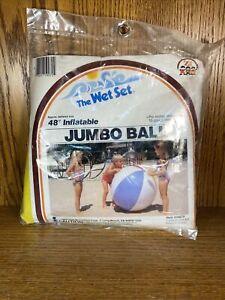 "Vintage 1983 Intex 48"" Inflatable Jumbo Beach Ball The Wet Set Zee NOS Sealed"