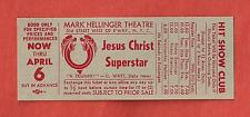 "Andrew Lloyd Webber ""JESUS CHRIST SUPERSTAR"" Tim Rice 1973 Broadway Promo Ticket"