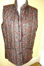 New listing BEAUTIFUL VINTAGE DESIGNER RED PAISLEY PADDED GILET BY LAVENIR EQUESTRIAN 16