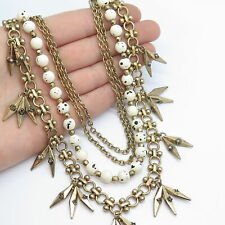 Vintage Multirow Necklace w / Toggle Clasp in Bronze Tone