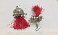 New Antique Victorian Earrings Drop Dangle Stud Pair Silver Women Jewelry 1890