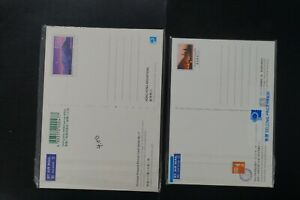 Hong Kong two un-open pre-paid view postcards 10 cards fv$50.00hkd (v422)