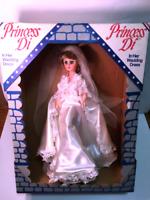 VTG Princess Diana Doll Wedding Dress Bride Noromco NIB Orig Box RARE