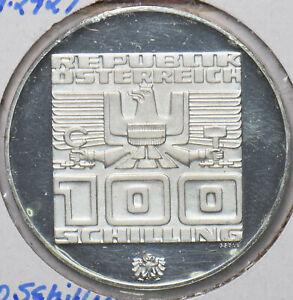 Austria 1976 100 schilling Eagle animal 293675 combine