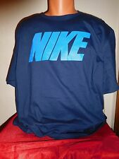"NIKE ""BOLD SKY BLOCK"" ATHLETIC FITNESS TRAINING GYM WORKOUT T SHIRT NAVY BLUE XL"