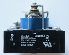 DELTROL CONTROLS RELAY COIL 900 SPDT 28270-60 12 VDC S155D 40AMP AT 120 VAC NEW