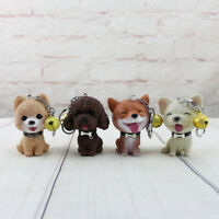 Poodle Shiba Inu Pomeranian Bulldog Cute Squeaky Dog Keychain Keyring Toy Gifts