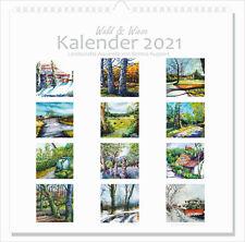 Kalender 2021 mit Landschafts-Aquarellen Kunstkalender