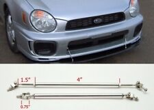 """Silver 4"""" Adjustable Rod Support for Chevy Bumper Lip Diffuser Spoiler splitters"""