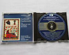 VOKAL ENSEMBLE CANTOS - RAHE Canticum Canticorum GERMANY CD CARUS 83.123 (1991)