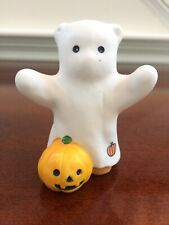 Vintage Lucy & Me Bear-Enesco-1985 Ghost With Pumpkin - S245