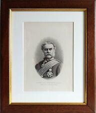 More details for scottish antique framed print the seaforth highlanders general sir g selby smyth