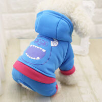 Pet Dog Puppy's Winter Warm Hoodies Coat Jacket Clothes Costume Apparel Clothing