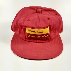 Vintage Sperry Rand New Holland Snapback Hat Cap Patch Louisville Mfg Co USA