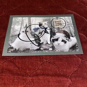 Taylor Swift Signed Christmas Postcard