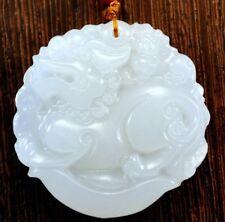 """Wunderschöner Jade-Anhänger """"Qilin"""" Kirin mit 64cm Halskette Unikat Amulett"""