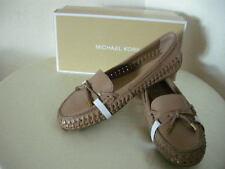 Authentic Michael Kors Daisy Moccasins Woven Shoes Size 7.5 Dark Khaki