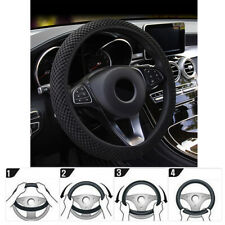 Fly5D Car Steering Wheel Cover Black Sleeve Universal Fit Suitable For Most Cars