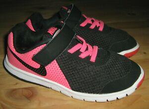 Girls sz 12.5 Nike Flex Experience 5 (PSV) 844992-600 Pink / Black