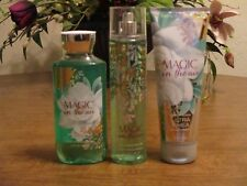 BATH AND BODY WORKS MAGIC IN THE AIR BODY CREAM, MIST, AND SHOWER GEL LOT OF 3