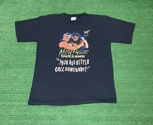 Vintage WWF MR ASS BILLY GUNN Wrestling DX New Age Outlaws  T Shirt Size L