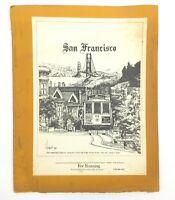 1976 San Francisco California 7 Art Prints By Horst Kampschulte Vintage Folder