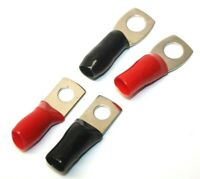 4-Pcs Battery Terminal Connector Round Hole Black Red for Jumper Series Wire