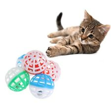 5 Pcs Cat Toy Plastic Bell Hollow Balls Sound Pet Game Kitten Interactive Rattle
